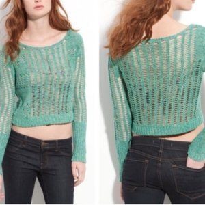Free People Goccia Cropped Knit Sweater Small